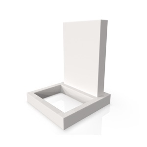 Ada with Standard Base and Square Planter