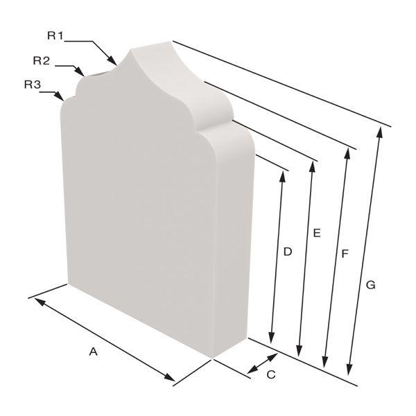 Arwa model Sizing Dimensions