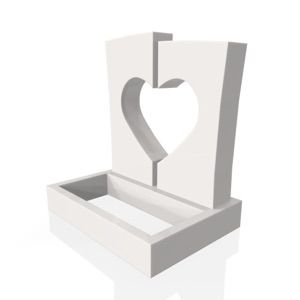 Josephine with Standard Base and Square Planter