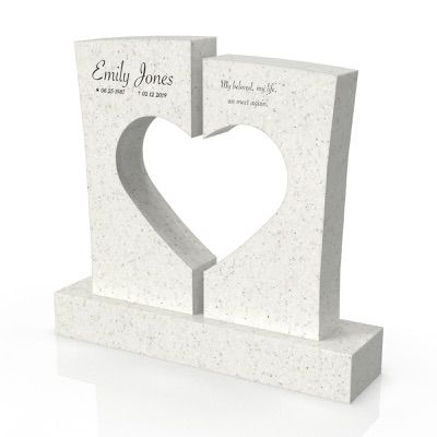 peaceyard headstone model josephine in stone color everest and customer graphics