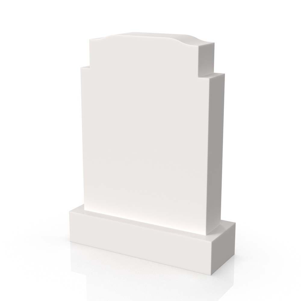 Peaceyard gravestone model Aiza with standard base in white
