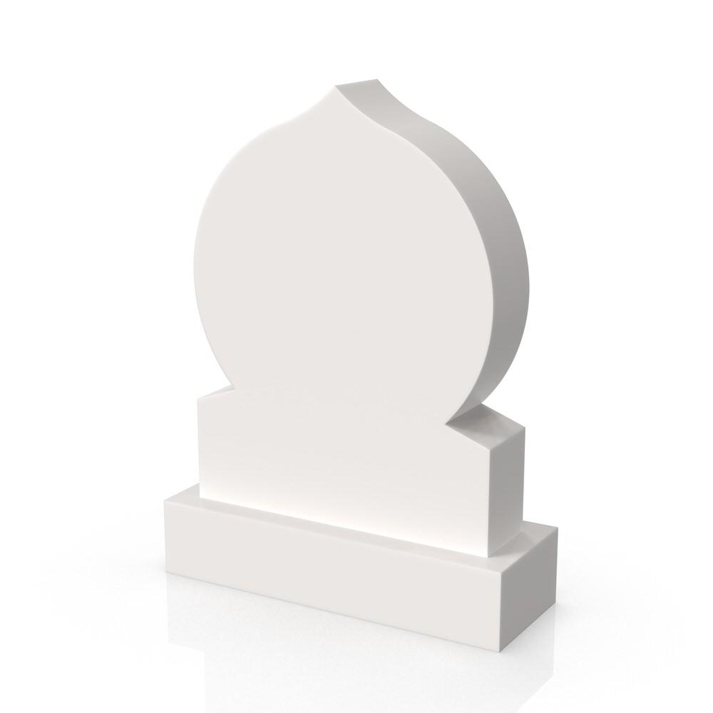 Peaceyard gravestone model Akila with standard base in white