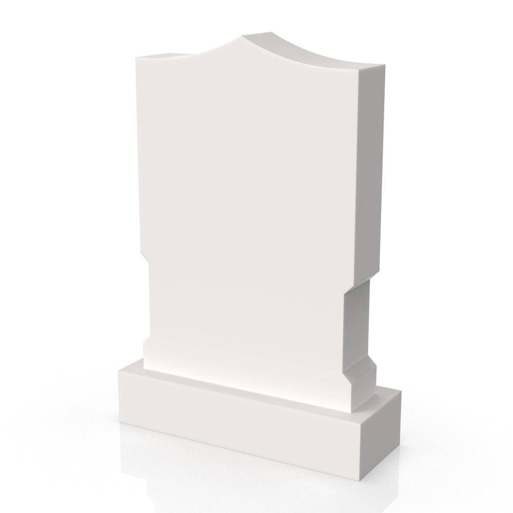Peaceyard gravestone model Amara with standard base in white