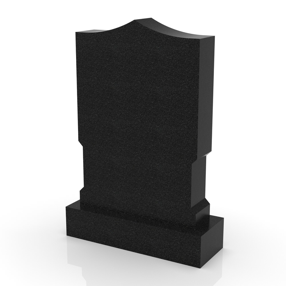 Peaceyard gravestone model Amara with standard base in black