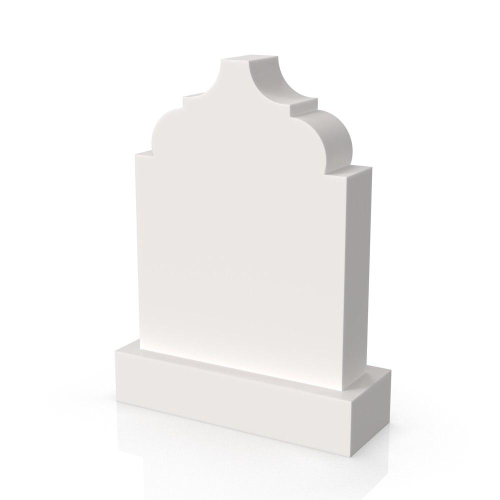 Peaceyard gravestone model Amna with standard base in white