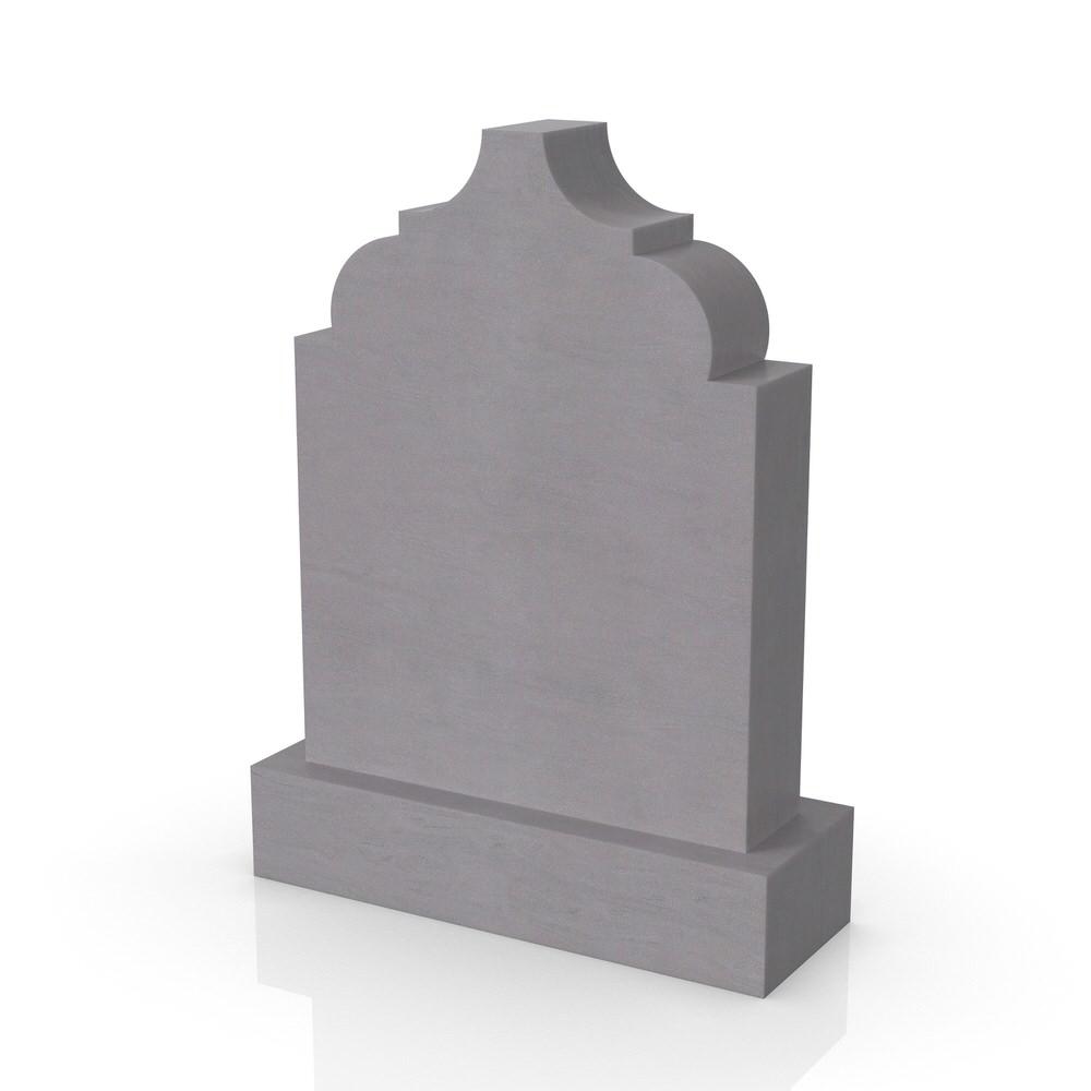 Peaceyard gravestone model Amna with standard base in grey