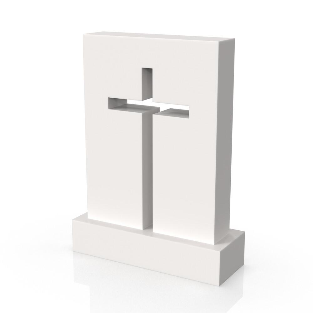 Peaceyard gravestone model Carol with standard base in white