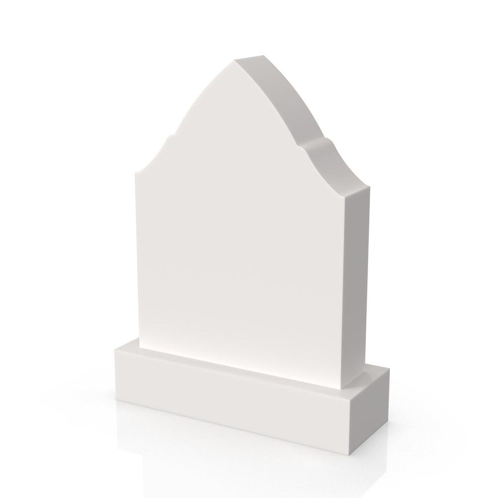 Peaceyard gravestone model Jawaria with standard base in white