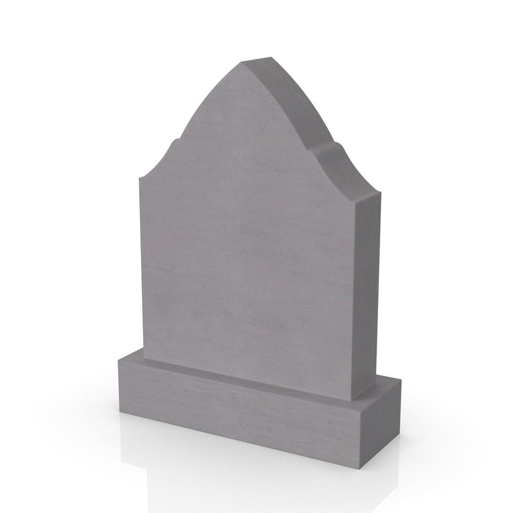 Peaceyard gravestone model Jawaria with standard base in grey