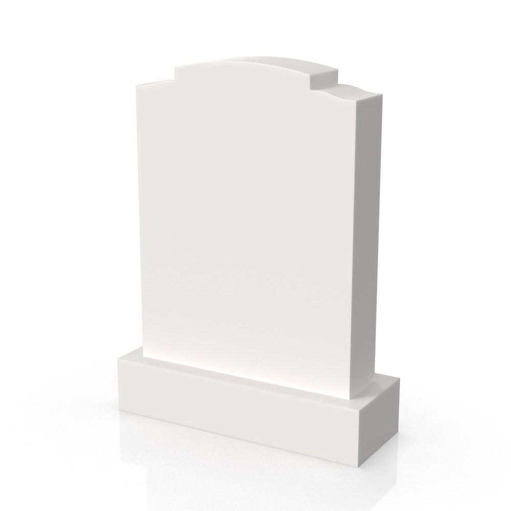 Peaceyard gravestone model Maira with standard base in white
