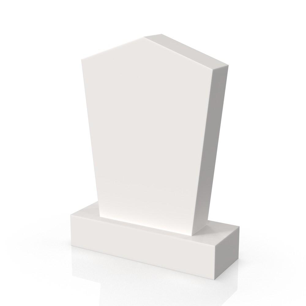 Peaceyard gravestone model Martha with standard base in white
