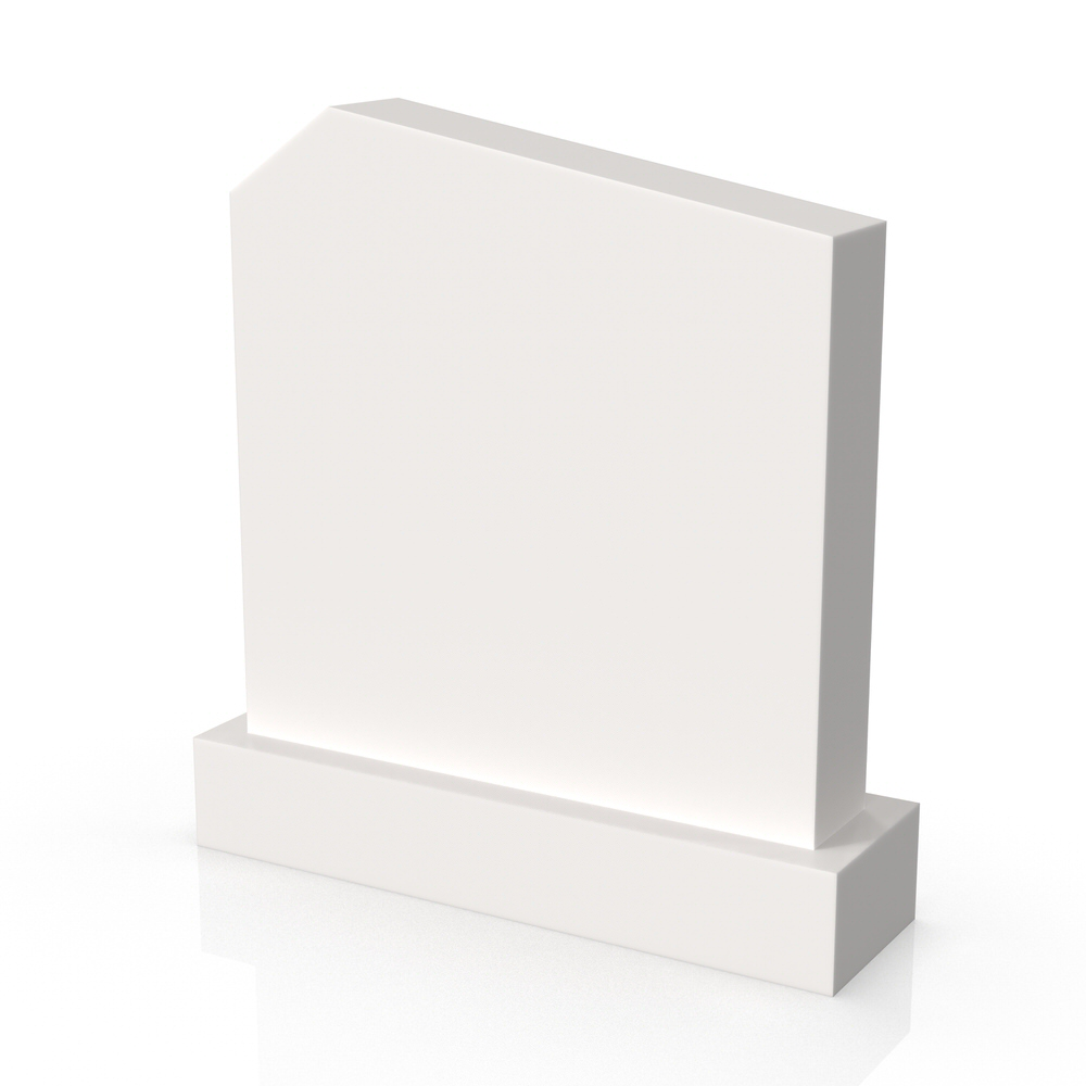 Peaceyard gravestone model Mary with standard base in white