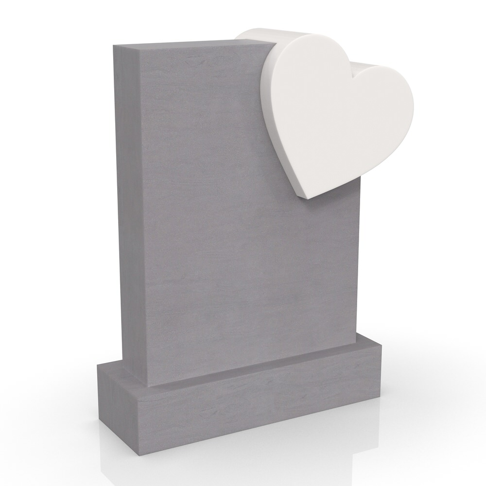 Peaceyard gravestone model Melita with standard base in dual color