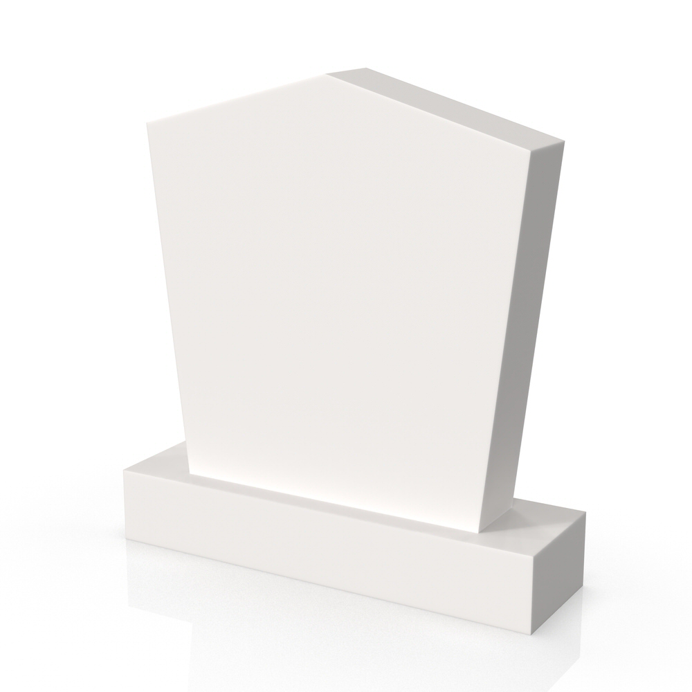 Peaceyard gravestone model Minnie with standard base in white