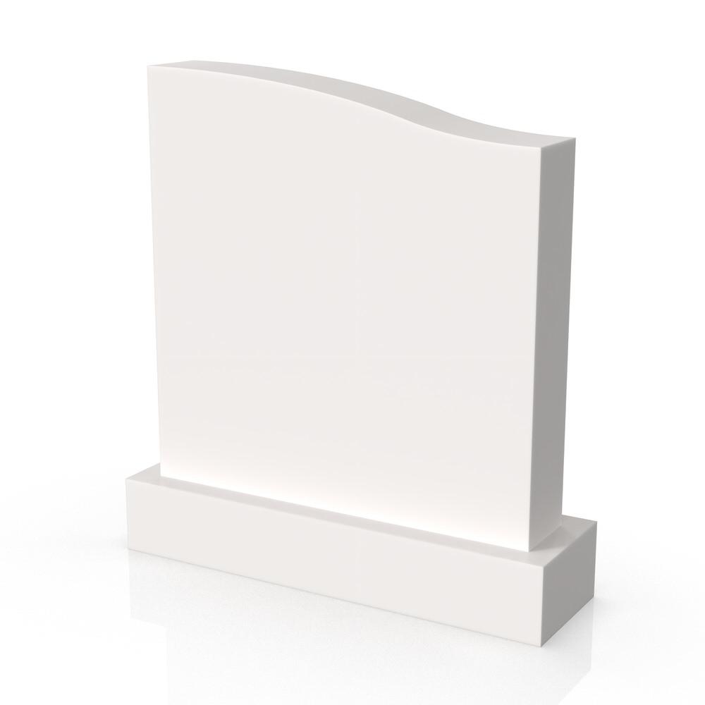 Peaceyard gravestone model Octavia with standard base in white