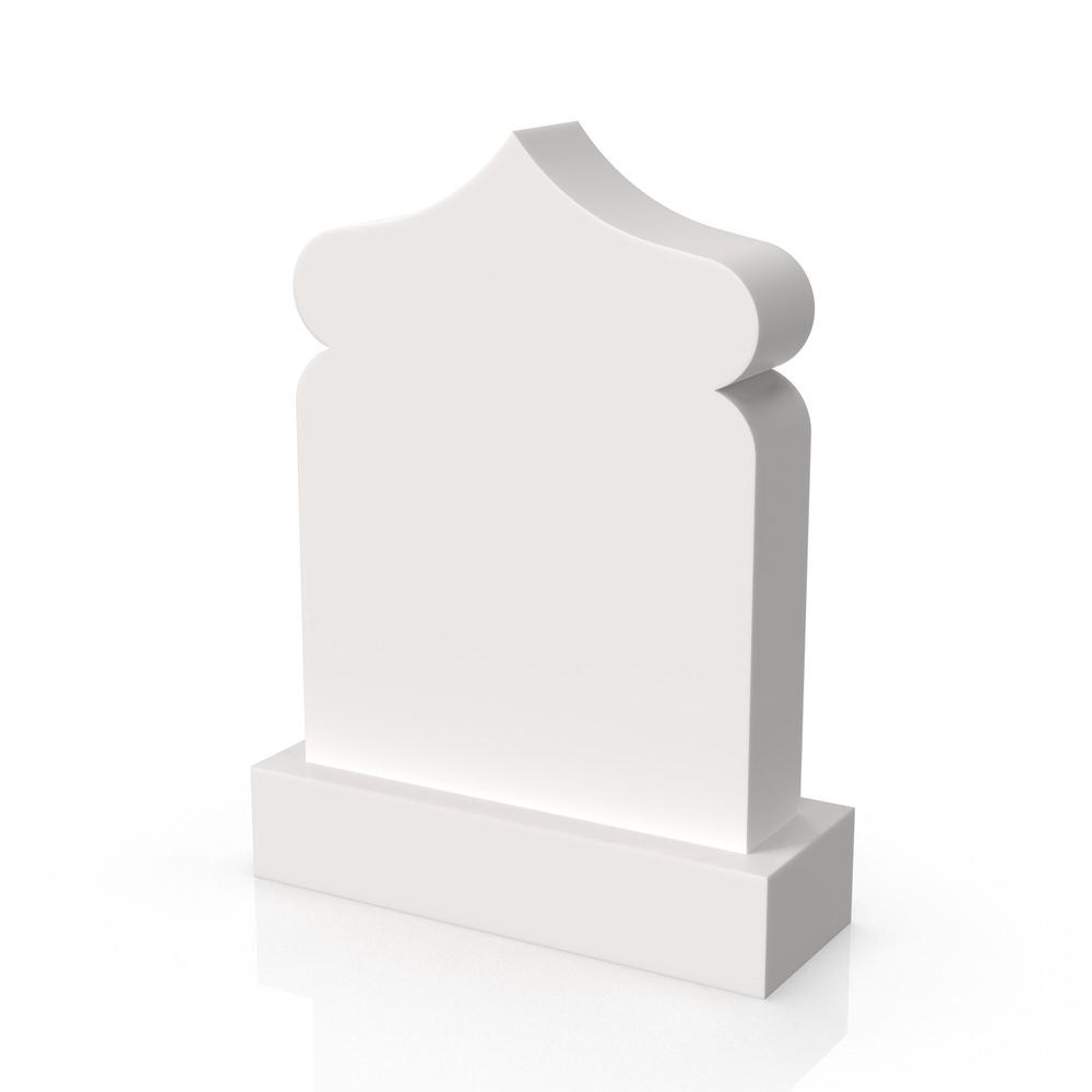 Peaceyard gravestone model Oma with standard base in white