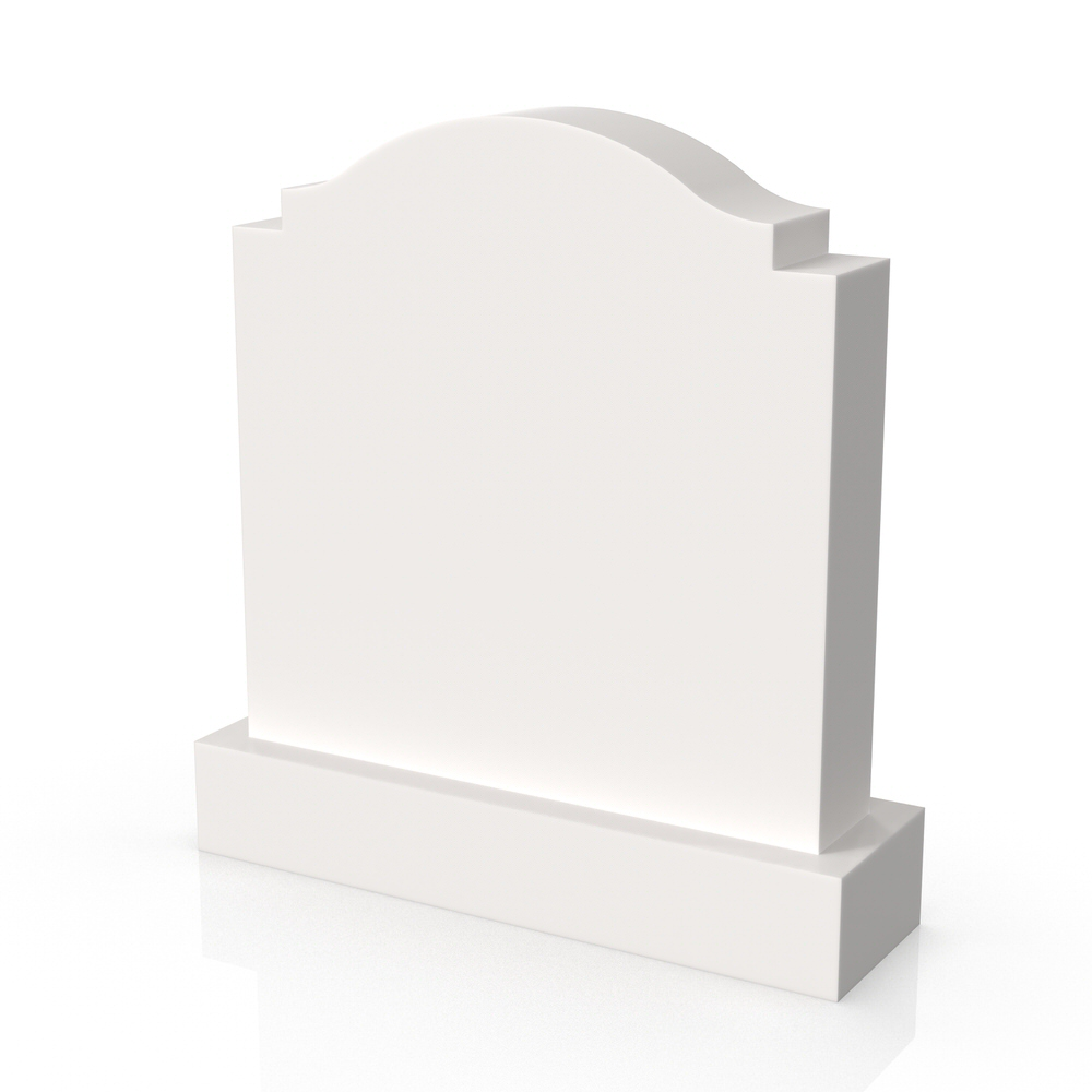 Peaceyard gravestone model Rosie with standard base in white