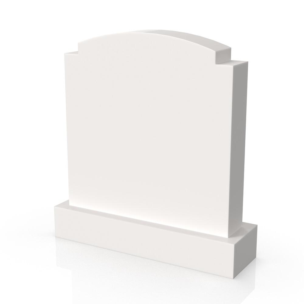 Peaceyard gravestone model Sophronia with standard base in white