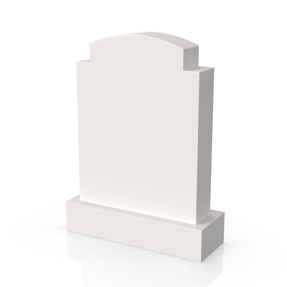 Peaceyard gravestone model Sylvia with standard base in white