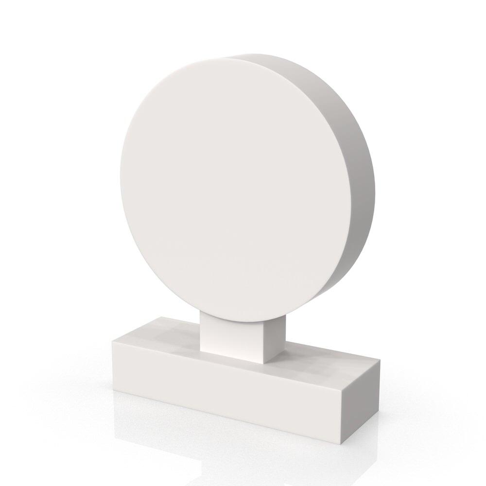 Peaceyard gravestone model Talia with standard base in white