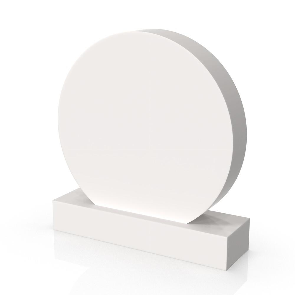 Peaceyard gravestone model Tamarine with standard base in white