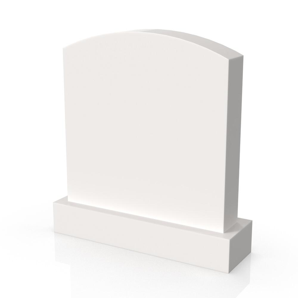 Peaceyard gravestone model Violet with standard base in white